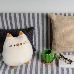 Accueil Coussin Chat Moelleux