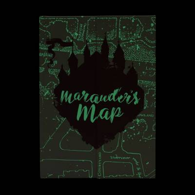 Accueil Harry Potter - Carnet de Notes Phosporescent Carte du Maraudeur A5